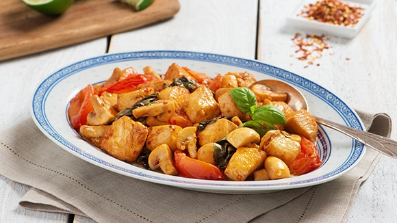 Thai Chicken with Tomatoes & Basil