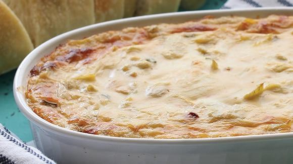 Creamy Artichoke & Leek Dip