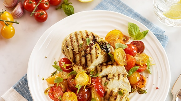 Balsamic Chicken with Cherry Tomatoes