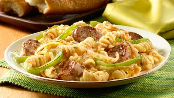 Recipes italian sausage peppers pasta