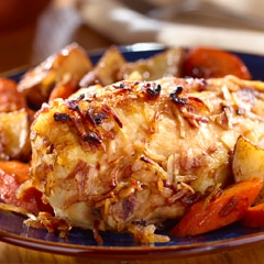 Onion-Roasted Chicken & Vegetables
