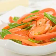 Sauteed Snow Peas, Carrots & Bell Peppers
