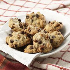 Pecan Double Chocolate Chip Cookies