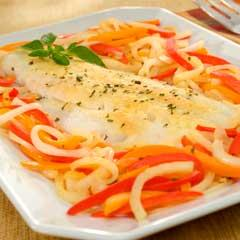 Herbed Roasted Cod with Bell Peppers