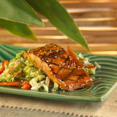Roasted Salmon with Mojito Slaw