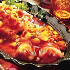 Spicy Halibut Veracruz