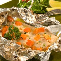 Snapper Pouches with Ginger  and Lime