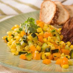 Toasted Corn & Zucchini Saute