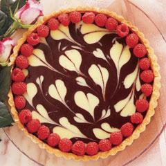 Ultra Romantic Tart of Two Chocolates
